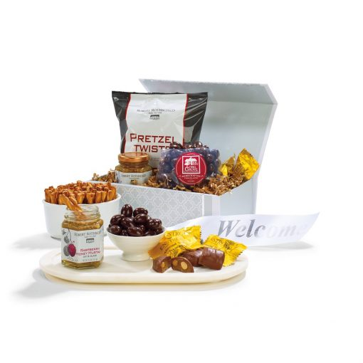 Stash N' Snack Gift Box - Light Grey Moroccan Pattern