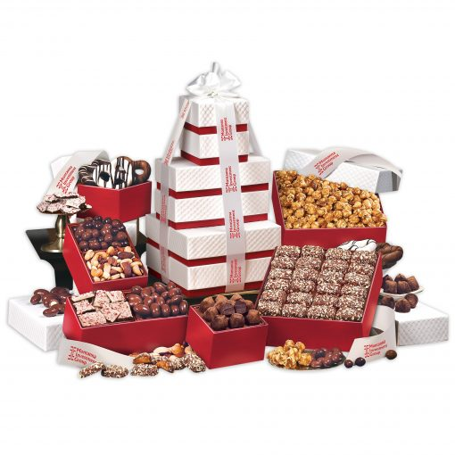 """The """"Park Avenue"""" Ultimate Tower of Treats in Red"""