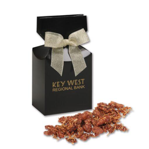 Coconut Praline Pecans in Black Premium Delights Gift Box