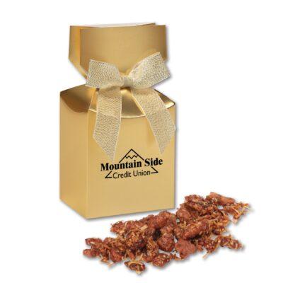 Coconut Praline Pecans in Gold Premium Delights Gift Box
