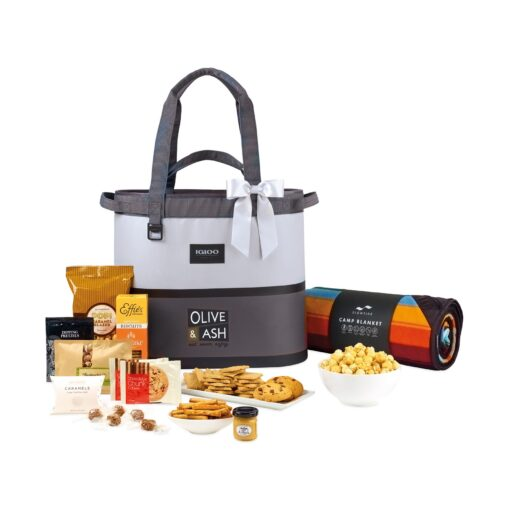 Igloo® Weekend Escape Gourmet Cooler Tote & Slowtide Blanket Gift Set - High-rise and Iron Gate