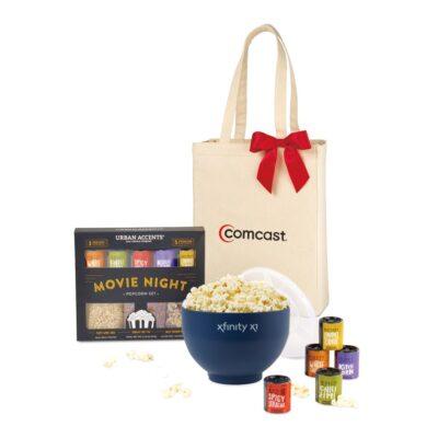 Movie Night Gourmet Popcorn Gift Set - Navy