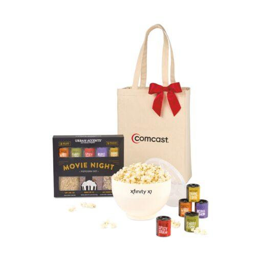 Movie Night Gourmet Popcorn Gift Set - White