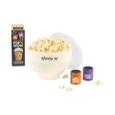 What's Pop'N Gourmet Popcorn Gift Set - White