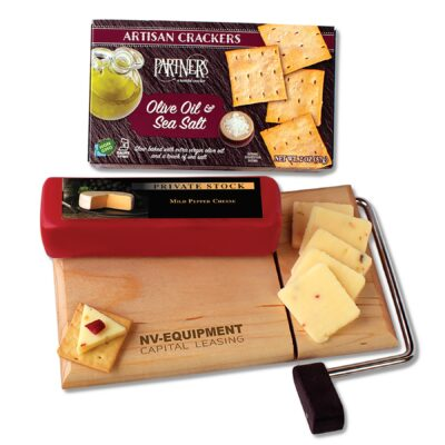 Cheese Slicer with Shelf-Stable Wisconsin Cheese