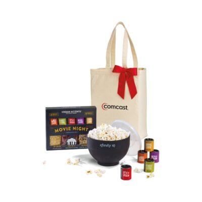Movie Night Gourmet Popcorn Gift Set - Natural-Black