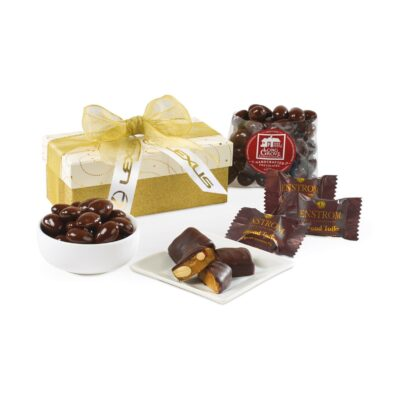 Sparkling Chocolate Gift Box - Sparkling White and Gold
