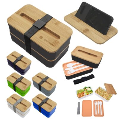 Stackable Bento Box With Phone Stand